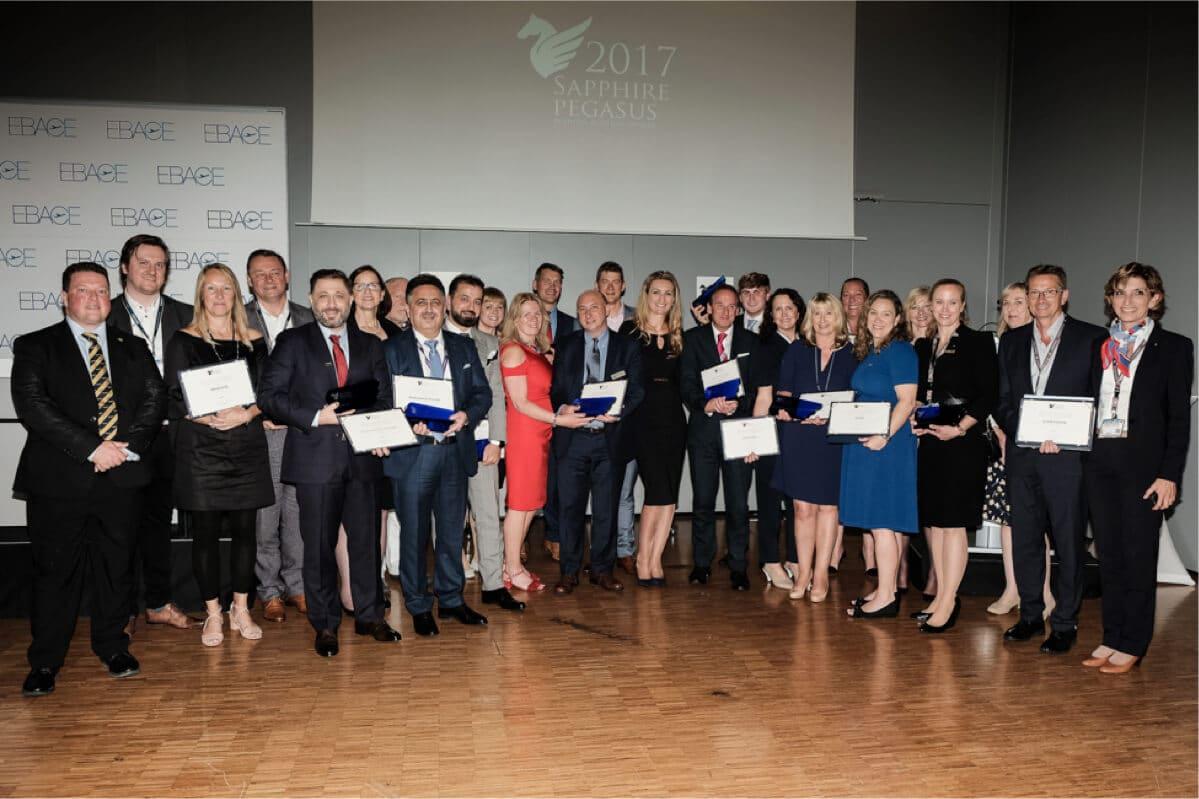 """Lauréat du prix """"Business Sapphire Pegasus"""", prix international de l'aviation d'affaires"""