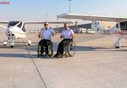 December 2018 - Emirates 24 - Dubai Airports And ExecuJet Support Two Disabled Aviators On Quest To Pilot Around The World