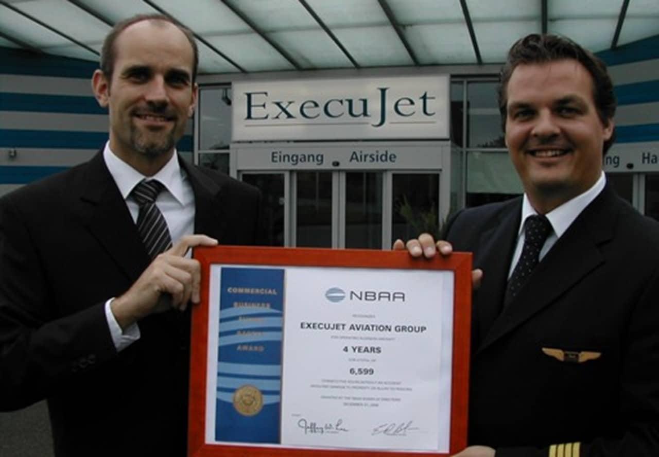 ExecuJet Europe awarded NBAA Flight Safety Award