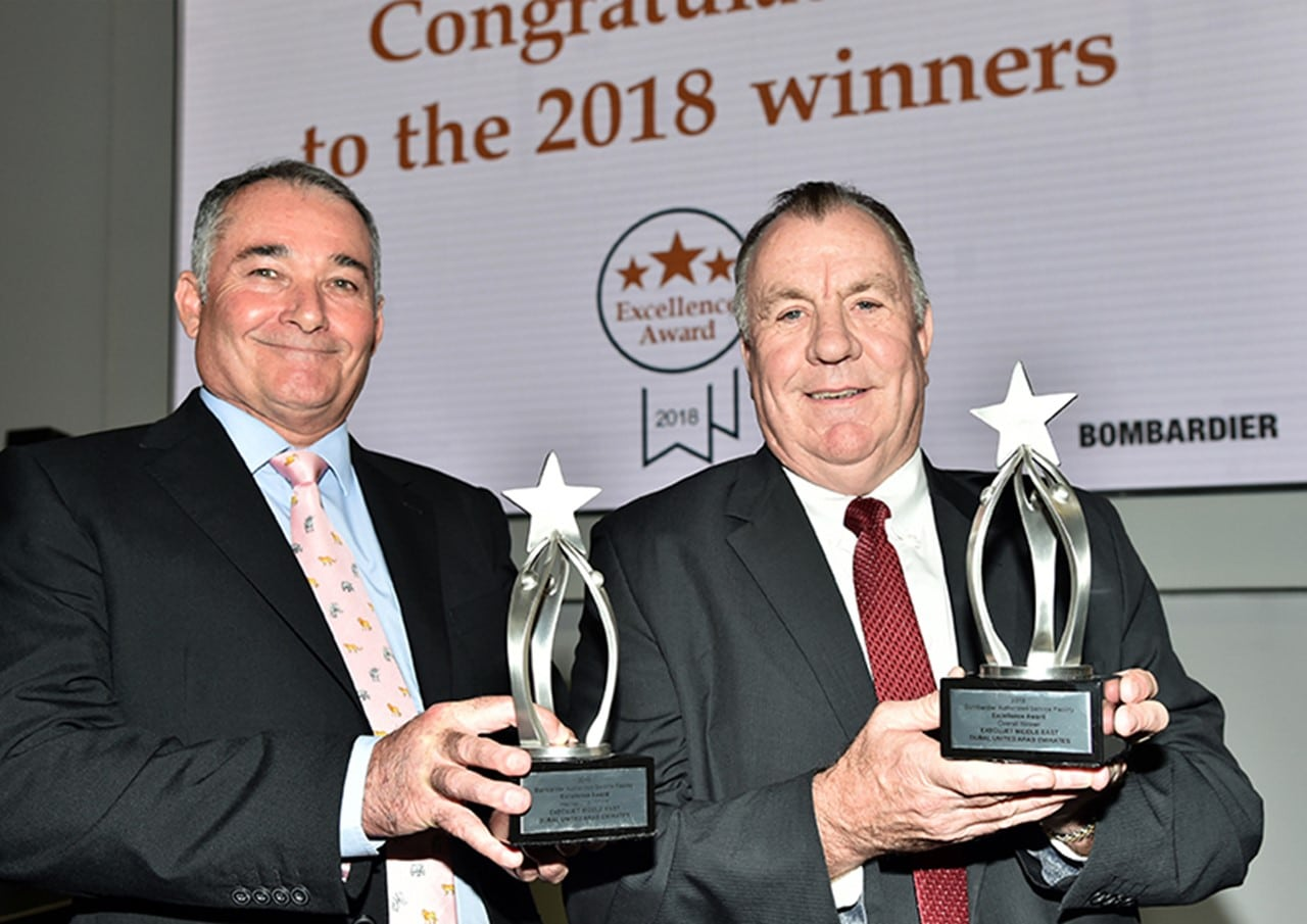 ExecuJet Middle East is 'Overall & International' winner at Annual Bombardier ASF Excellence Awards