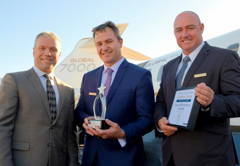 ExecuJet celebrates history of industry recognition with seventh Bombardier 'International' ASF Excellence Award