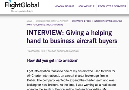 Flight Global - INTERVIEW: Giving a helping hand to business aircraft buyers