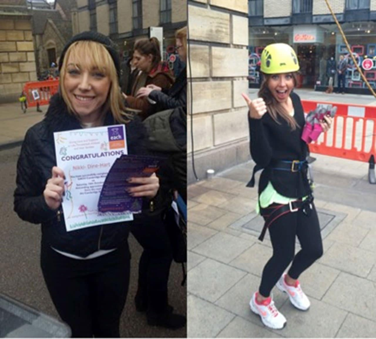 Harriet & Nikki's Guildhall Abseil for EACH