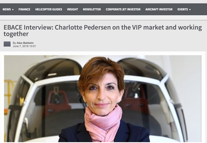 June 2018 - Helicopter Investor - EBACE Interview: Charlotte Pedersen on the VIP market and working together