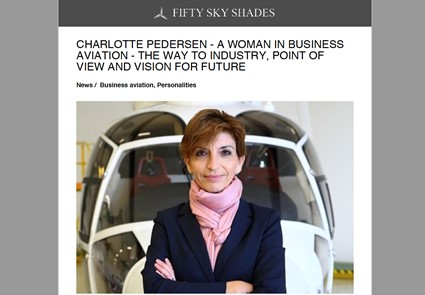 July 2018 - 50 Sky Shades - Charlotte Pedersen, a woman in business aviation