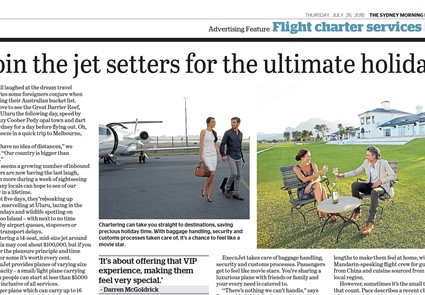 July 2018 - Sydney Morning Herald - Join the jet setters for the ultimate holiday