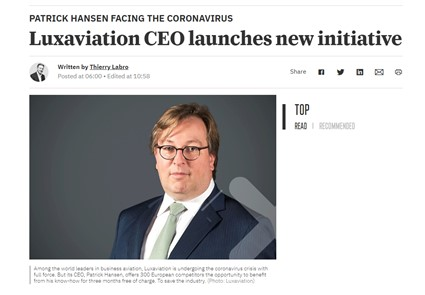 Luxaviation CEO launches new initiative