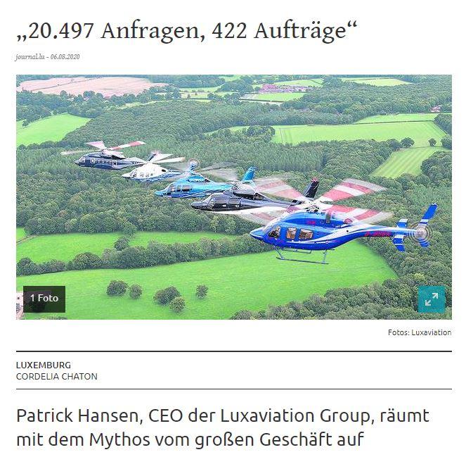 Patrick Hansen, CEO der Luxaviation Group, räumt mit dem Mythos vom großen Geschäft auf