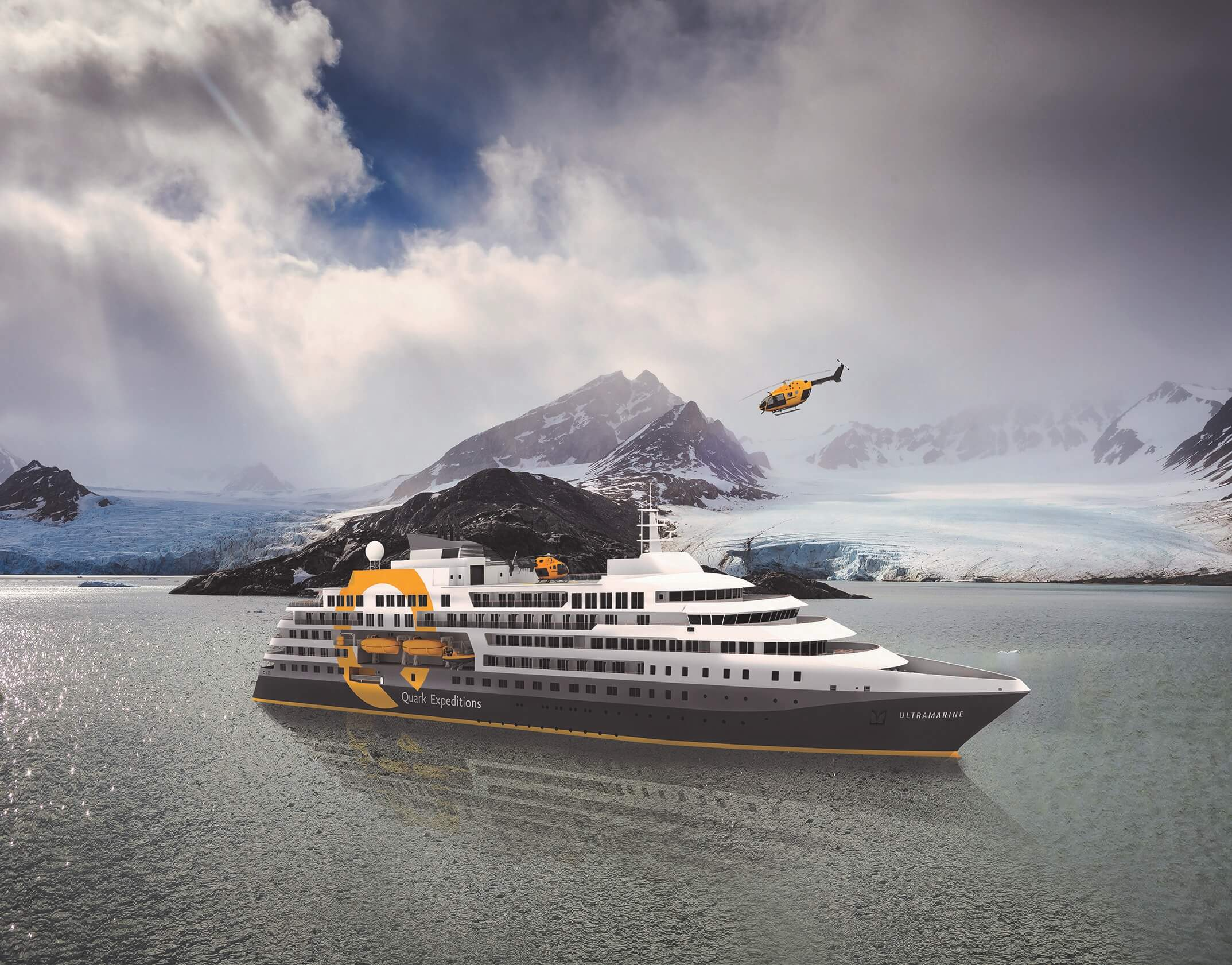 Starspeed to manage helicopter services onboard the new Quark Expeditions polar vessel, Ultramarine