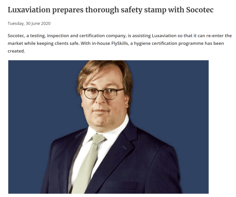 Luxaviation prepares thorough safety stamp with Socotec