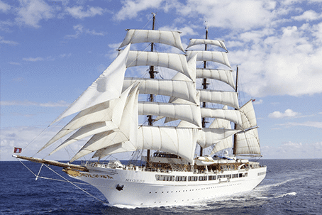 His dreams, his music and his iconic locations on board the Sea Cloud II